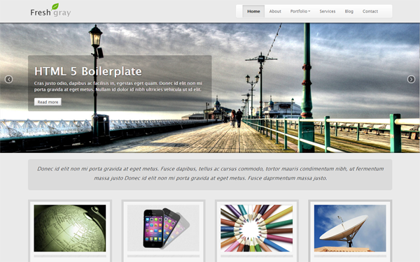Fresh Gray - Responsive Template