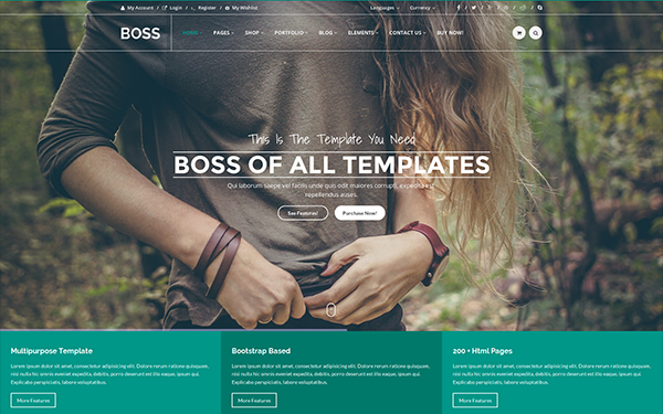 BOSS - Multipurpose Template - Live Preview - WrapBootstrap
