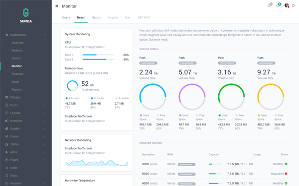 DOWNLOAD - Sumea - Dashboard Template