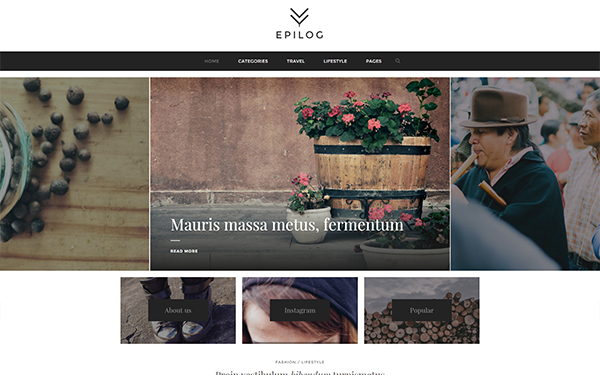 Epilog - Clean Blogging Theme - Live Preview - WrapBootstrap