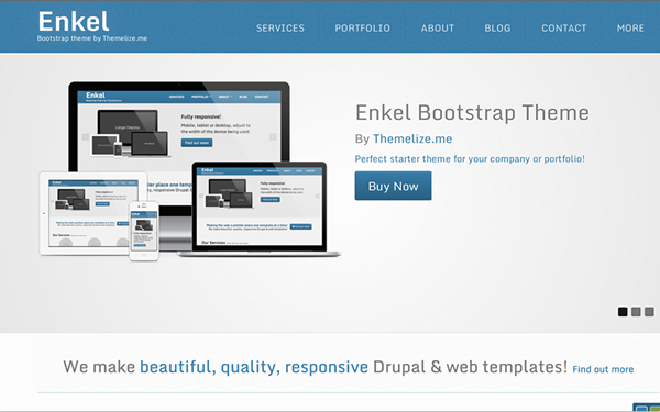 Enkel Responsive Bootstrap Theme - Live Preview - WrapBootstrap