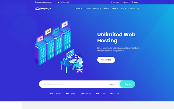 [DOWNLOAD] - Hostcox - Web Hosting & WHMCS Template