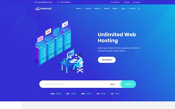 Hostcox - Web Hosting & WHMCS Template