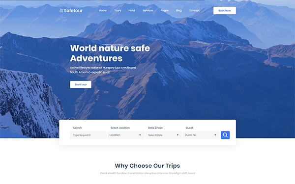 [DOWNLOAD] - Safetour - Travel & Tour Agency Template