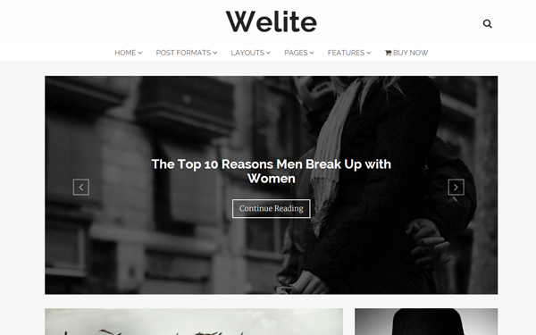 Welite - Responsive WordPress Blog Theme - Live Preview - WrapBootstrap