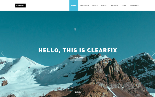 Clearfix - One Page Theme - Live Preview - WrapBootstrap