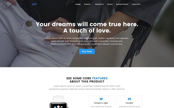DOWNLOAD - Blue - Product Landing Page Template