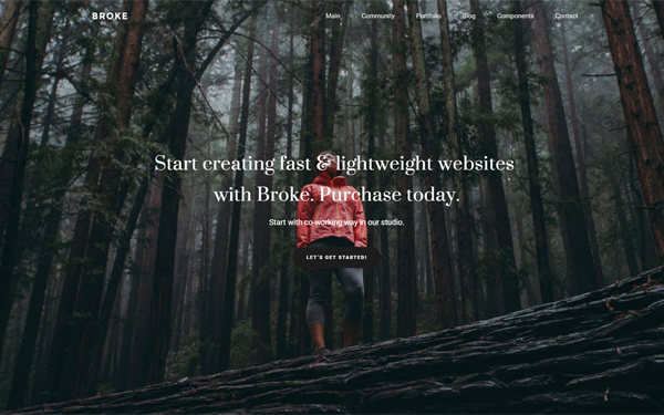 Broke - Responsive Portfolio Template - Live Preview - WrapBootstrap