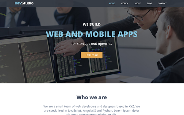 DevStudio | For Agencies (Bootstrap 4)