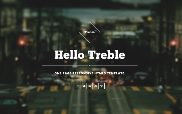 Treble - One Page Responsive Theme