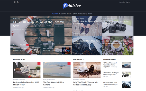 [DOWNLOAD] - Publicize - Blog News and Magazine Template