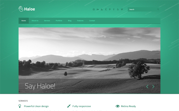 Haloe - Responsive HTML Template - Live Preview - WrapBootstrap