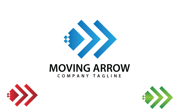 Moving Arrow Logo Template