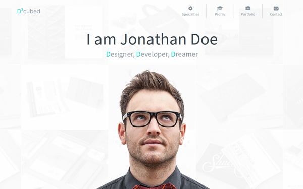D-cubed | Modern Personal Portfolio - Live Preview - WrapBootstrap