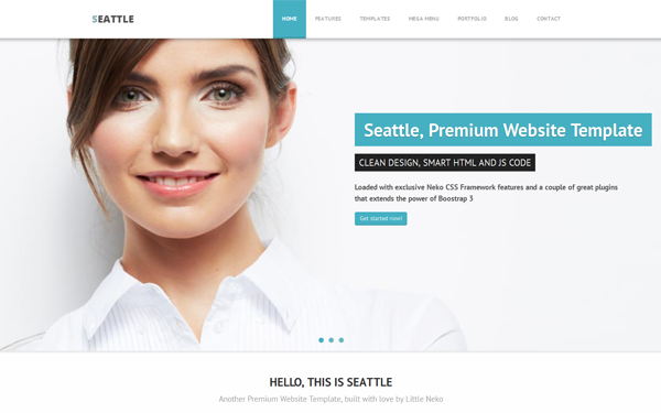 Seattle corporate website template wrapbootstrap seattle corporate website template flashek Images