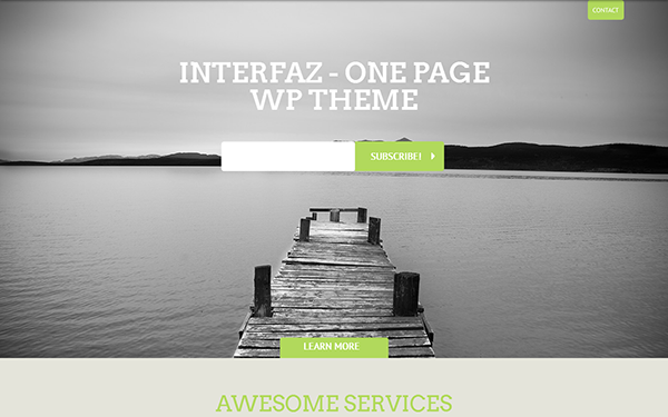Interfaz - WordPress One Page Theme