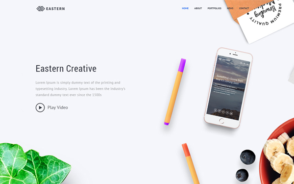 Eastern - Creative Multipurpose Template - Live Preview - WrapBootstrap