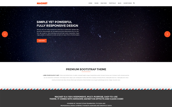 magnet responsive website template wrapbootstrap