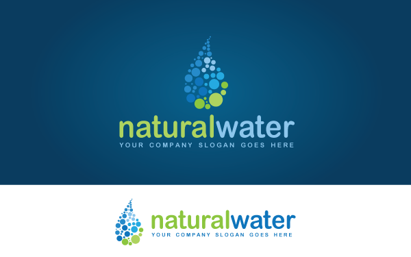 Natural Water Logo Template