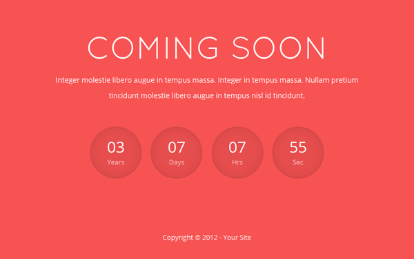 Rosley - Responsive Coming Soon Theme