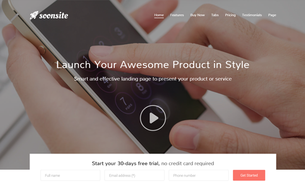 Soonsite - Responsive Launch Template