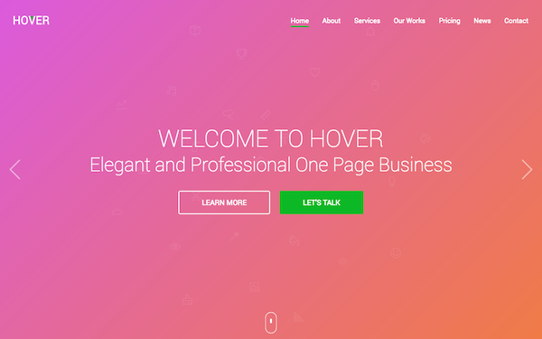 Hover one page html template wrapbootstrap hover one page html template wajeb Image collections