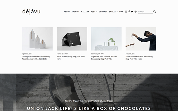 Dejavu Minimal Html Blogging Template Wrapbootstrap