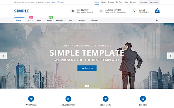 simple multipurpose template