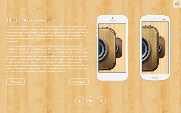Wooden - Creative Landing Page