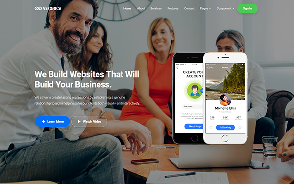 DOWNLOAD - Veronica - Responsive Landing Page