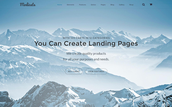 Modicate - Multipurpose Website Template - Live Preview - WrapBootstrap