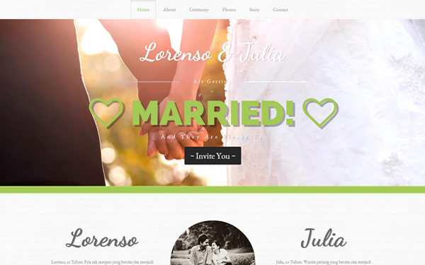 Ditinggal Rabi - Wedding Invitation - Live Preview - WrapBootstrap