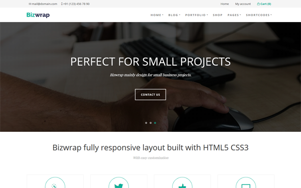 Bizwrap - WordPress Business Theme