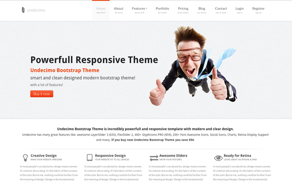 Undecimo Bootstrap Theme - Live Preview - WrapBootstrap