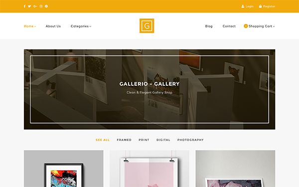 [DOWNLOAD] - Gallerio - Gallery & Shop Template