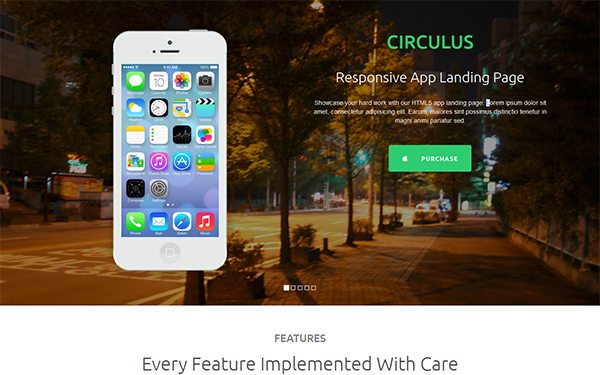 Circulus - Flat Responsive Landing Page - Live Preview - WrapBootstrap