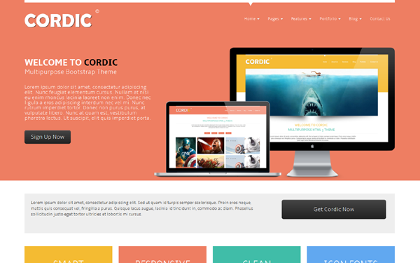 DOWNLOAD - CORDIC - Multipurpose Bootstrap Theme