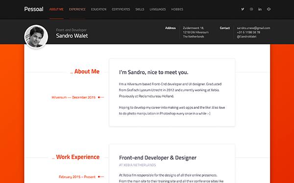 Bardcrack Soluciones Integrales. Desarrollo de plataformas Web, tiendas en linea y mas. Plantilla Web Pessoal - Modern Resume Theme - Live Preview - WrapBootstrap