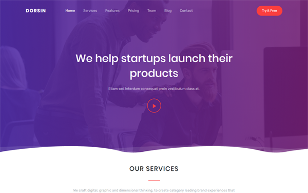 DOWNLOAD - Dorsin - Multipurpose Landing Page Template