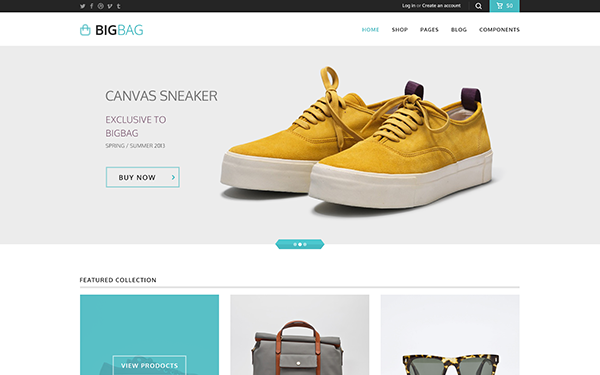 BigBag Store - Elegant Ecommerce Theme - Live Preview - WrapBootstrap