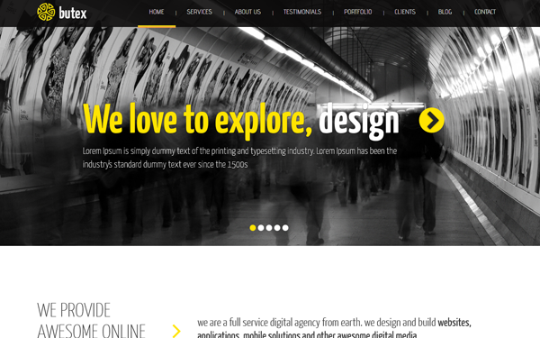 Butex - Responsive Web Template - Live Preview - WrapBootstrap