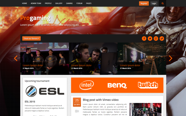 ProGaming - Responsive Gaming Magazine - Live Preview - WrapBootstrap