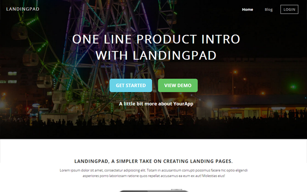 LandingPad - Landing Page - Live Preview - WrapBootstrap