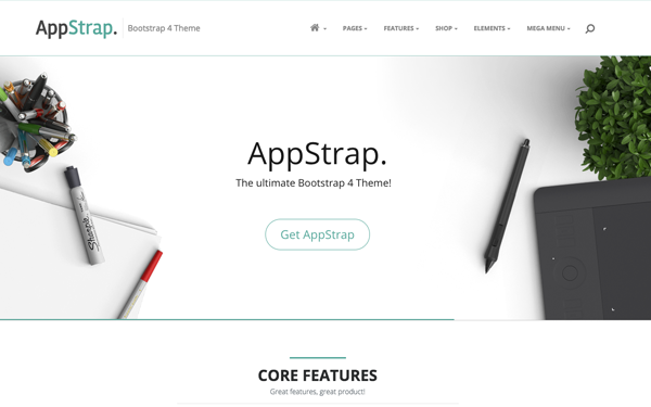 Appstrap Multipurpose Bootstrap 4 Theme Wrapbootstrap