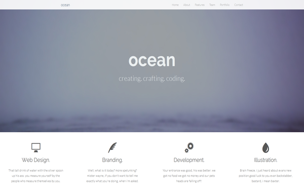 Ocean - Live Preview - WrapBootstrap