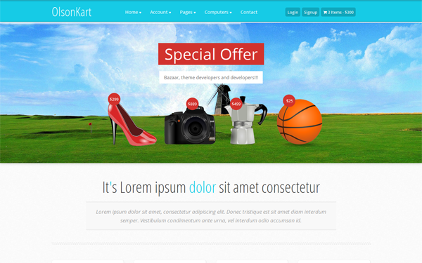 OlsonKart - Bootstrap E-Commerce Theme