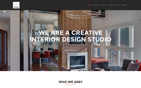 House Interior Design Template Wrapbootstrap