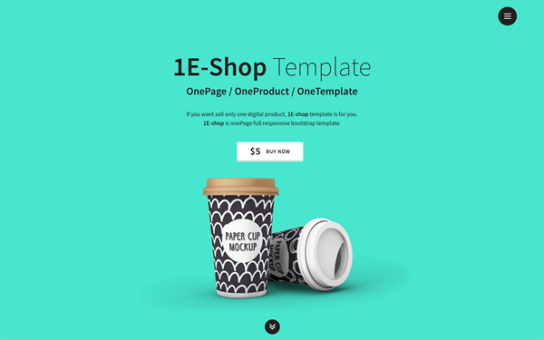 1E-shop - One-Page Shop Bootstrap 4
