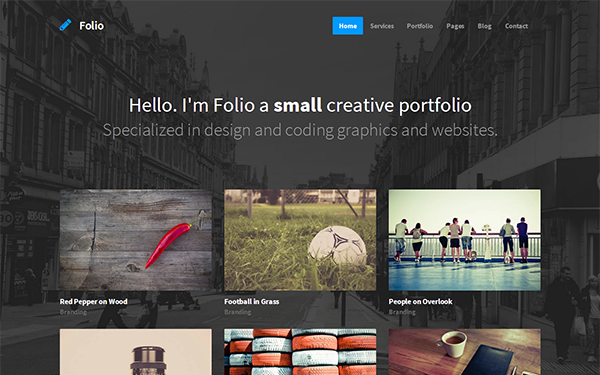 Folio - Responsive Portfolio Template - Live Preview - WrapBootstrap