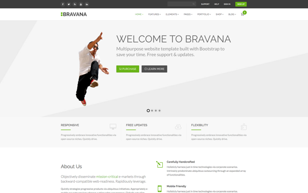 Website templates themes buy sayfa 4 bravana is multipurpose website template for business agency e commerce or even for blogging beside its full responsive it also has a lot of features cheaphphosting Images